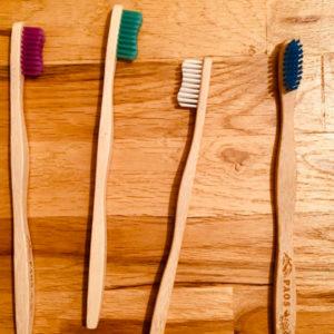 lot de 4 brosse à dent en Bambou